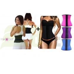 Centura modelatoare MissBelt Instant Hourglass Shape + Centura talie viespe, prindere mos si baba