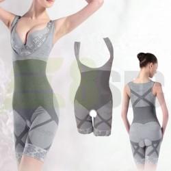 Set 2 costume modelatoare cu efect de slabire - GRI