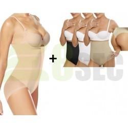 Body modelator cu efect push up + Lenjerie modelatoare cu banda adeziva